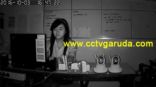 hasil ip camera wireless infra red