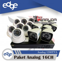 PAKET CCTV ANALOG EDGE 16CH