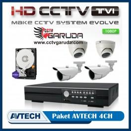 PAKET CCTV AVTECH HDTVI 4CH