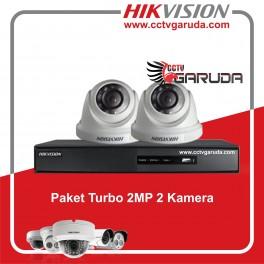 Paket Hikvision Turbo 2 Kamera + Instalasi